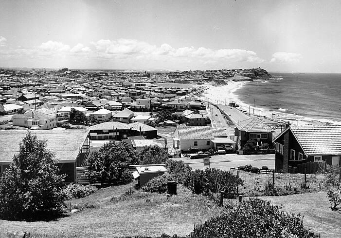 Another photograph of Merewether, this time taken in 1973. The rapid growth in the area is evident.
