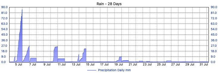 Merewether Weather - 28 Day Rain